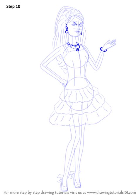 Learn How to Draw Barbie from Barbie Life in the