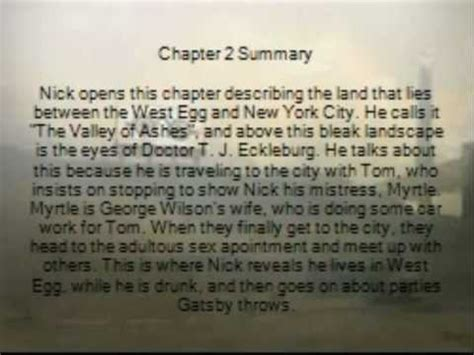 Great Gatsby Chapter 2 Project - YouTube