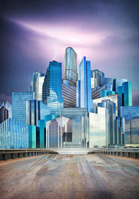 Surreal Cityscape Collages by Artist Andrew Soria