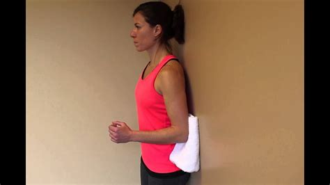 Isometric Shoulder Extension at Wall - YouTube