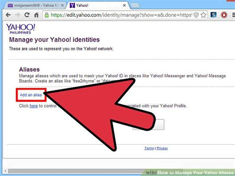 How to Manage Your Yahoo Aliases: 10 Steps (with Pictures)