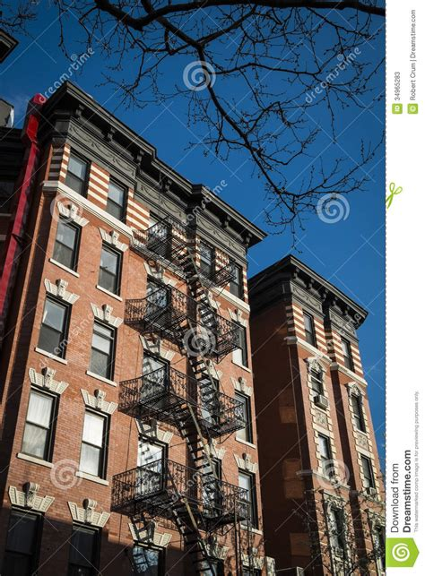 Classic Old Apartment Building, New York City Stock Photos
