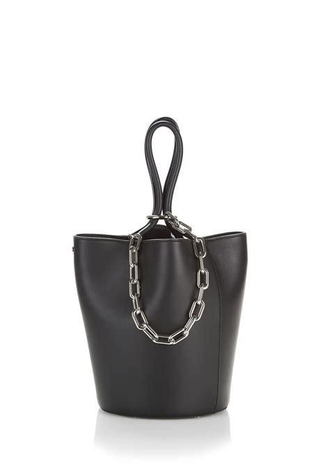 Alexander Wang ROXY LARGE BUCKET BAG IN BLACK WITH